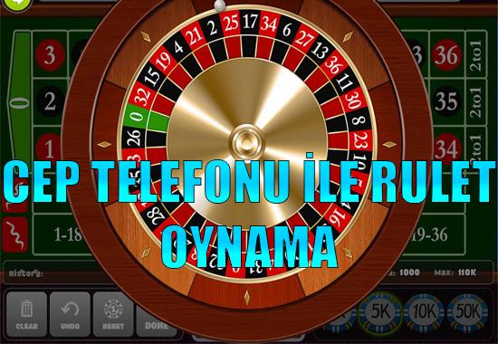 cep telefonu ile rulet oynama, Mobil rulet siteleri, Cep telefonu ile nasıl rulet oynanır